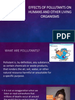 Effects of Pollutants on Humans and Other Living