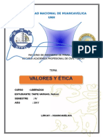 Trabajo de Liderazgo de Etica Valor Profesional