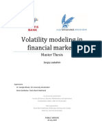 Volatility Modeling in Financial Markets