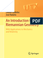 (Universitext) Leonor Godinho, José Natário-An Introduction to Riemannian Geometry_ With Applications to Mechanics and Relativity-Springer (2014)