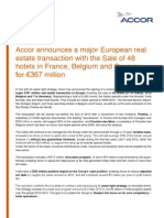 Real Estate Transaction in Europe 48 Hotels