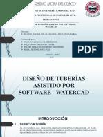 Diseño de Tuberias Watercad