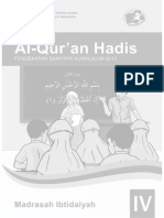Buku Alquran Hadis MI 4 Guru
