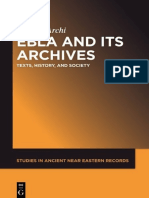 (Studies in Ancient Near Eastern Records 7) Alfonso Archi-Ebla and its Archives_ Texts, History, and Society-Walter de Gruyter (2015).pdf