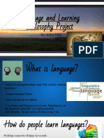 language and learning philosophy project