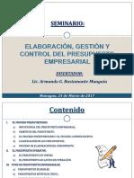 Seminario Elaboración, Gestión y Control Del Ppto Empresarial 24-03-2017