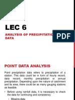 Lec 6 Analysis of Precipitation