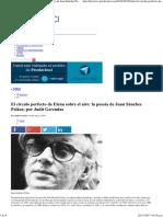 El Círculo Perfecto Sobre Poesía de Juan Sánchez Peláez; - Por Judit Gerendas