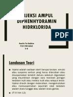 Injeksi Ampul Diphenhydramin Hidrklorida