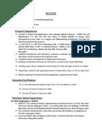 Resume of Akhilesh