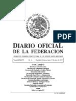 Diario Oficial de la Federación de fecha 17 de julio de 2017