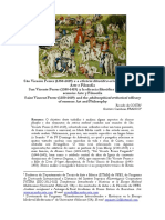 São Vicente Ferrer (1350-1419) e a Eficácia Filosófico-retórica Do Sermão Arte e Filosofia