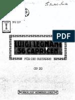 Legnani, Luigi - Op20 36 Caprichos 2º Edicion
