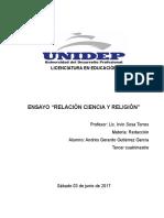 """Ensayo """"Relación entre Fe y Ciencia"""""""