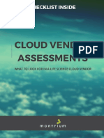 Cloud Vendor Assessment Checklist