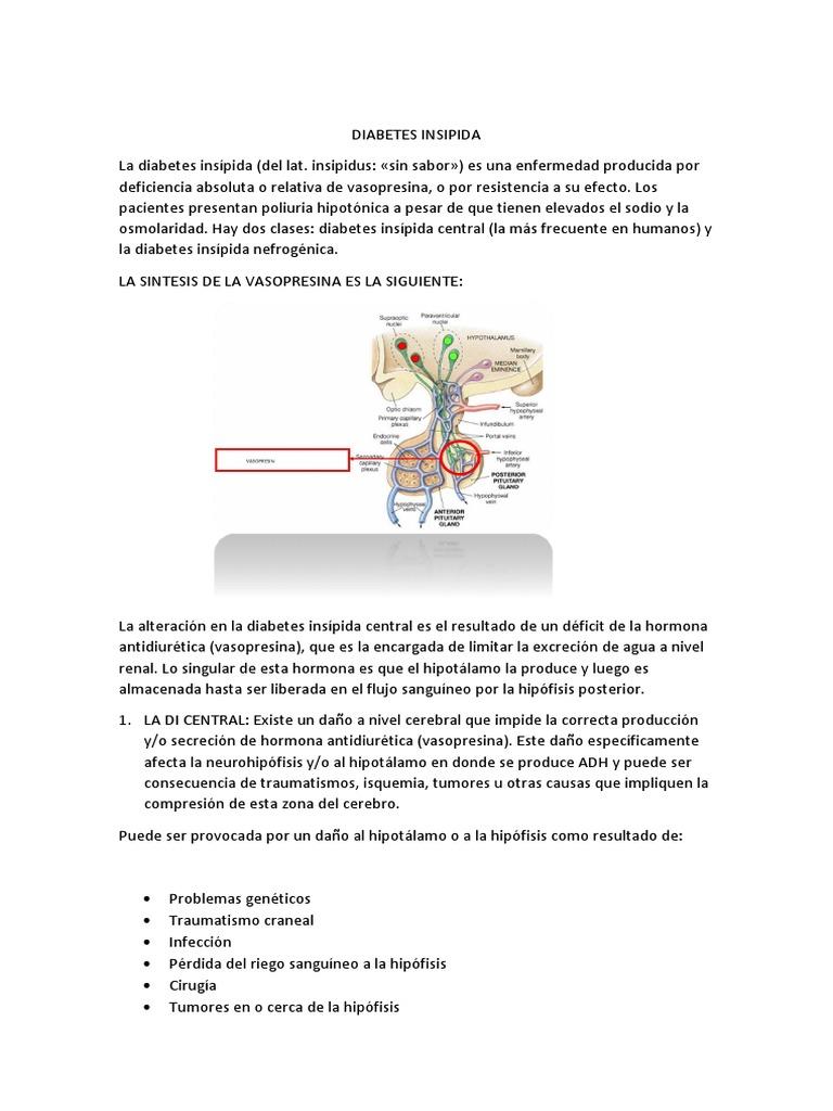 tratamiento de la diabetes insípida acetato de desmopresina