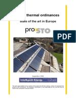 Solar Thermal Ordinances in Europe