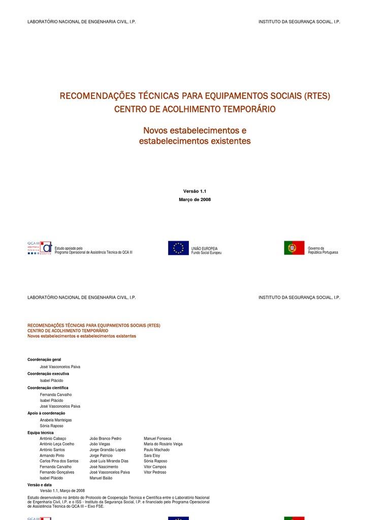 1b813b4795 RECOMENDAÇÕES TÉCNICAS PARA EQUIPAMENTOS SOCIAIS (RTES)