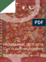 Livret Programme VU PAS VU - Saison 2017-2018