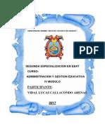 Trabajo Administracion y Gestion Educ.