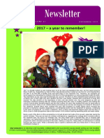 Born in Africa Newsletter December 2017