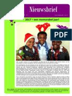 Born in Africa Nieuwsbrief December 2017
