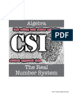 Csi Algebra Unit 2 the Real Number System