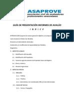 Indice de Un Informe de Avalúo. Enero 2017.