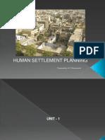 Human Settlements Unit 1 & Unit 2