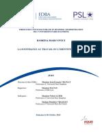 EDBA Paris-Dauphine La Souffrance Au Travail Thesis Romina Marcovici