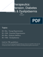 Therapeutics_ Hypertension, DM & Dyslipidaemia