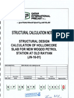 Hollwo Core Slab Design Calculation