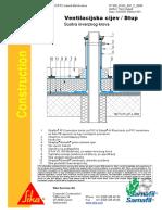 Sintetiƒke Membrane - Inverzni Krov - Vertikalna Cijev, Stup