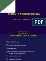 Clase Clima y Arq