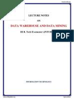 Data Warehousing and Data Mining (1)