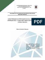 Caracterização Da Fertilidade Do Solo, Vegetação e Interação Solo – Planta Em Floresta de Restinga Do Litoral Paulista