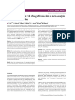 14. Physical Activity and Risk of Cognitive Decline a Meta-Analysis of Prospective Studies