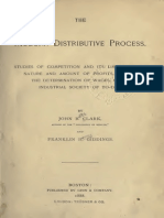 John B. C. y Franklin H. Giddings, The Modern Distributive Process [Studies of Competition and Its Limits.]
