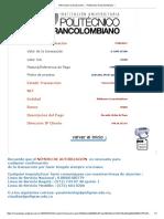 Informacion La Transacción Politecnico Grancolombiano