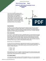 Designing JFET Audio PreAmplifiers