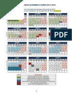 Calendario Uva 2017-18
