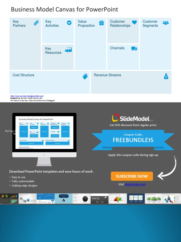 FF21 - Free Business Model Canvas Template For PowerPoint For University Of Miami Powerpoint Template