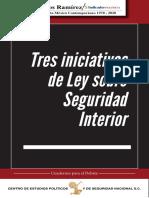 Tres iniciativas de ley sobre seguridad interior