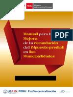 Manual Para La Mejora de La Recaudación Del Impuesto Predial de Las Municipalidades