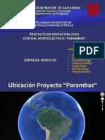 Presentación - Proyecto de Prefatibilidad 6-Octubre