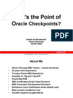 Oracle Buffers Checkpoints