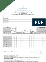 Hydraulic Jump Data