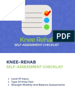 Knee Rehab Self Assessment Checklist 2