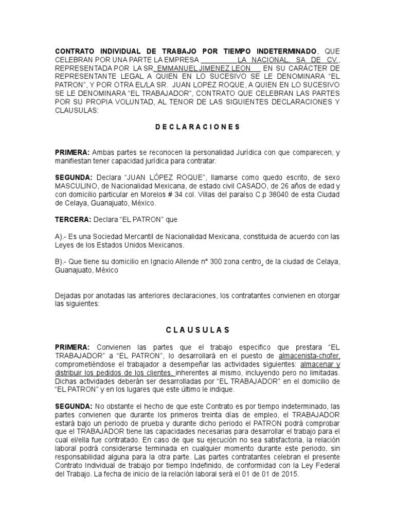 Contrato Individual 1