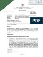 RESOLUCIÓN DE LA TERCERA SALA ESPECIALIZADA EN LO CONTENCIOSO ADMINISTRATIVO DE LA CORTE SUPERIOR DE JUSTICIA DE LIMA